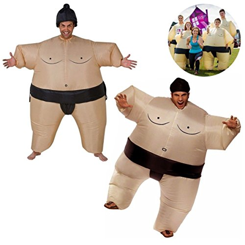 Garma Inflatable Sumo Wrestler Wrestling Suits Halloween Costume Party Costume (Mens Inflatable Sumo Costume)