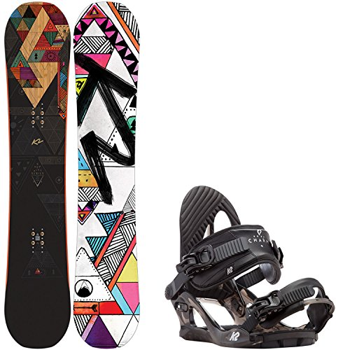 K2 Spot Lite 147cm Womens Snowboard + K2 Charm Bindings - Fits US Wms Boots Sized: 6,7,8,9,10