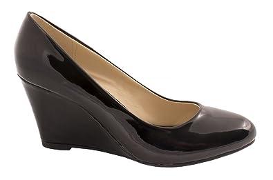Elara Damen Pumps Keilabsatz Wedges Schuhe mit Plateau Chunkyrayan