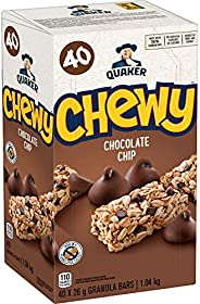 QUAKER Chewy Chocolate Chip Granola Bars, 1.04kg (40 Count)