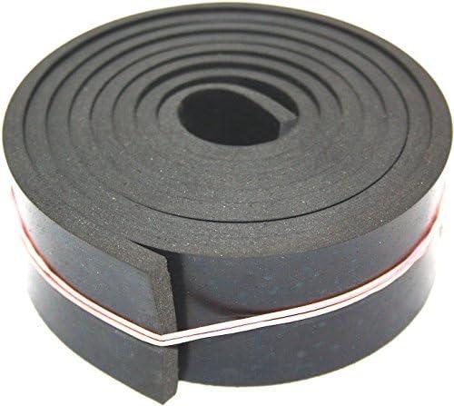 Gummimatte Gummistreifen in der Gr/ö/ße 5000x50x5mm Hartgummi Gummiauflage Sch/ürfleiste Gummiplatte Vollgummi