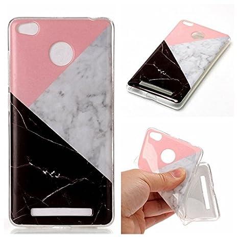 pinlu® Funda para Xiaomi Redmi 3S / Redmi 3 Pro Suave TPU Silicona Case Ultrafino Anti Arañazos Estuche Duradero Espalda Cubierta Diseño Mármol ...