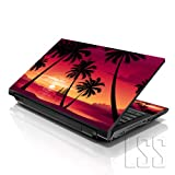 LSS 15 15.6 inch Laptop Notebook Skin Sticker Cover Art Decal Fits 13.3' 14' 15.6' 16' HP Dell Lenovo Apple Asus Acer Compaq (Free 2 Wrist Pad Included) Hawaiian Paradise Palm Tree