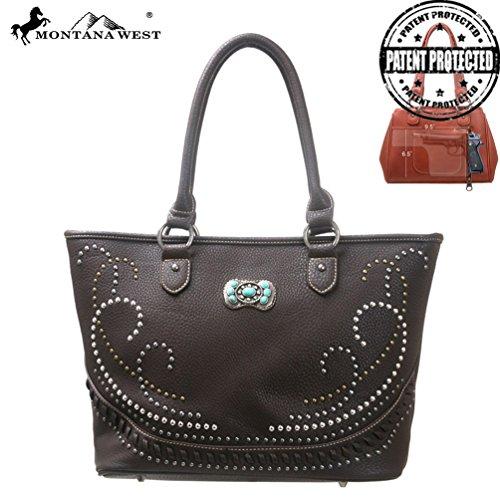 Montana West Mw117g-8317 Concealed Handgun Collection -coffee Western Handbag Purse