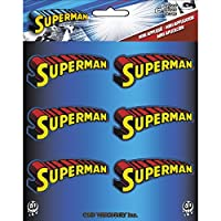 Application DC Comics Superman Text Logo 6 Pat Ch Set Novelty, 2""