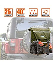 ALL-TOP Overland Series Spare Tire Trash Bag (Green) - Tool & Gear Organizer for Outdoor Off-Road Expedition - Fit up to 40'' Tire