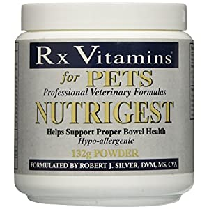 Rx Vitamins for Pets Nutrigest for Dogs & Cats – Helps Support Proper Bowel & Digestive Health – Veterinarian Formulated Probiotic – Powder 132g