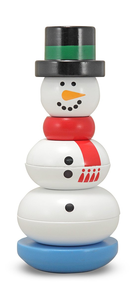 Melissa & Doug Snowman Stacker Wooden Toddler Toy (8 pcs)