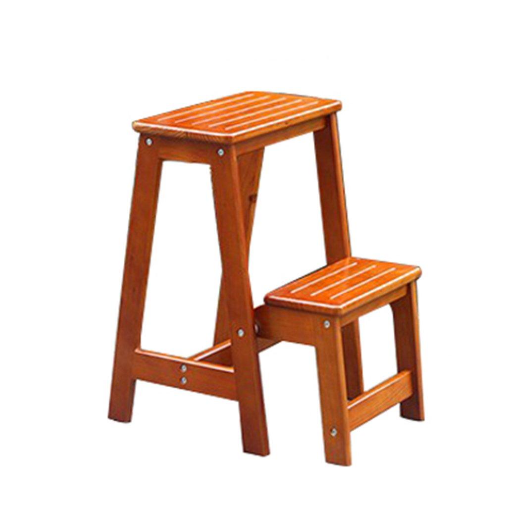 Chaises hautes Tabouret portable - tabouret haut - tabouret à usage double escabeau - chaise pliante - tabouret en bois massif -