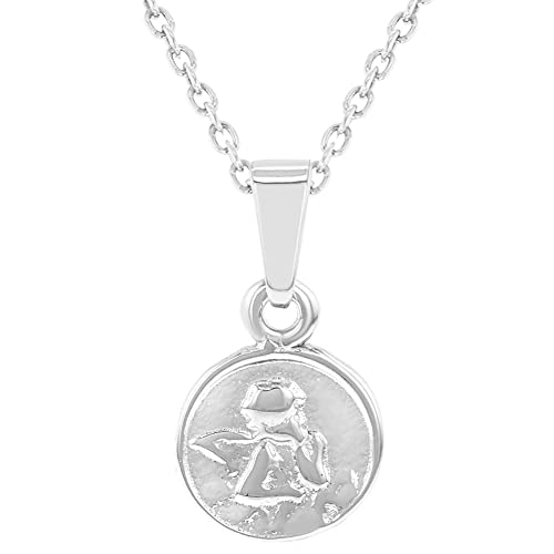 327851613c1 Image Unavailable. Image not available for. Color: 925 Sterling Silver Guardian  Angel Little Medal Pendant Necklace ...