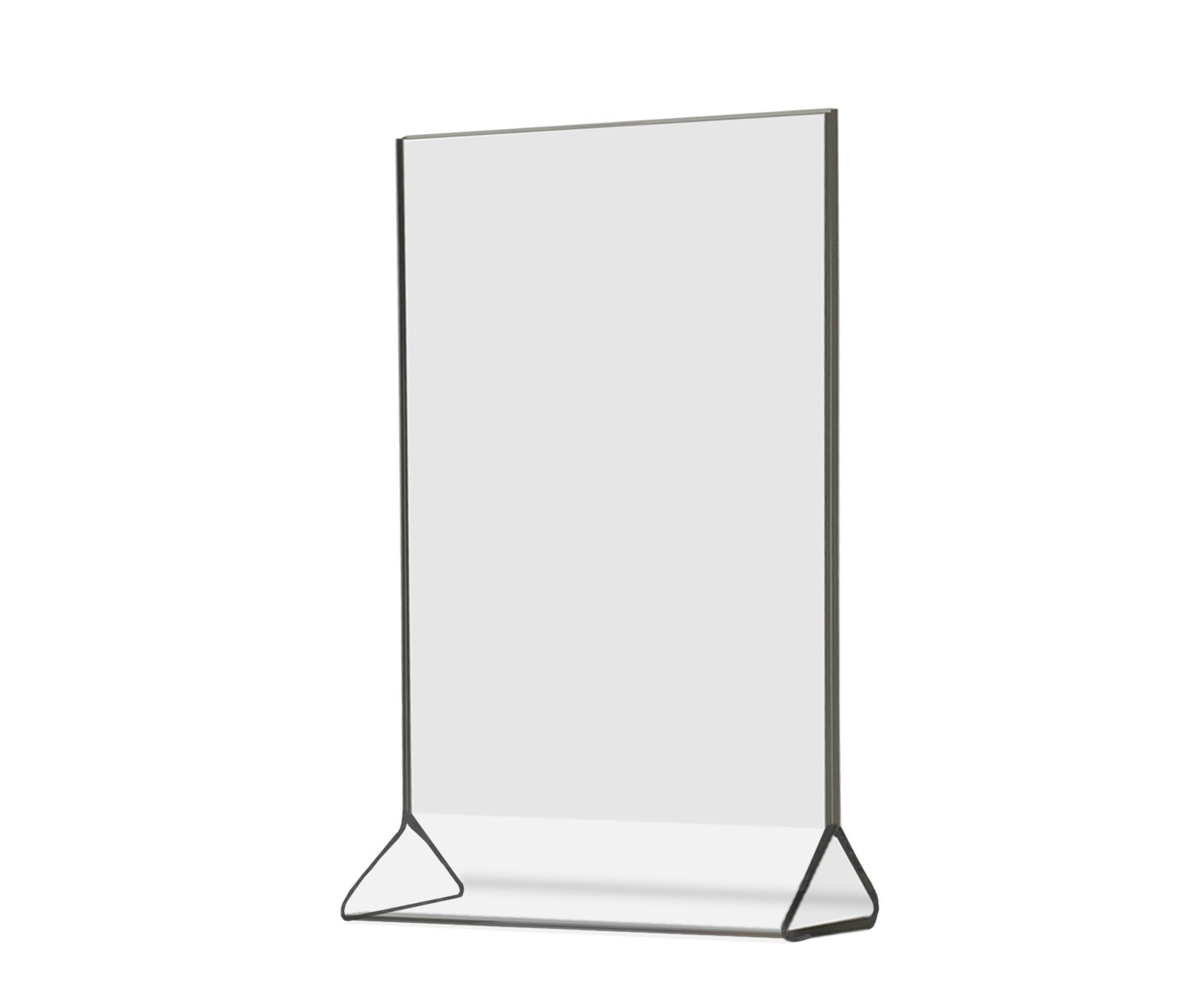 Marketing Holders Top Loading, Double-sided Table Sign Holder, Clear Acrylic Frame 4 x 6 Inches (Pack of 12)