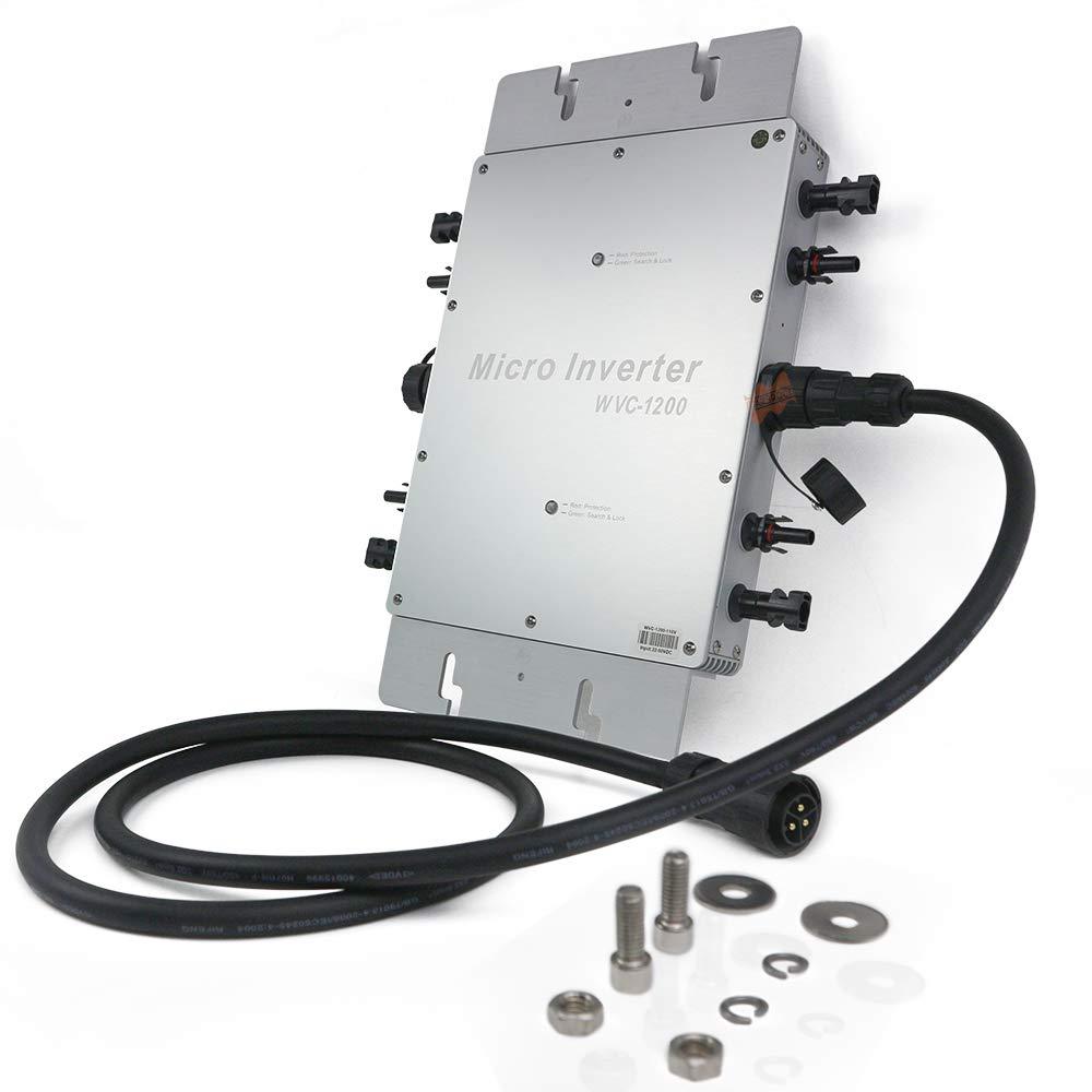 Marsrock IP65 Waterproof 1200 W Micro Grid Tie Solar Inverter 22-50VDC To 80-160VAC