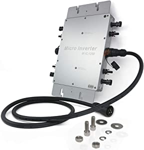 Marsrock IP65 Waterproof 1200W Micro Grid Tie Solar Inverter 22-50VDC to 80-160VAC (110vac) Pure sine Wave Inverter for 400W-1440W 30V or 36V Solar Panel System (120VAC)