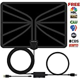 TV Antenna, Indoor Digital Antenna for Full HDTV 4K. HUEIYING 2018 Updated Version 30-80 Mile Range Switching No Need to Disassemble Amplifier. (Black)