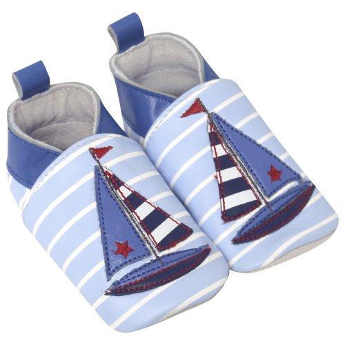 JoJo Maman Bébé - Bottines pour Bébé Motif Marin Bleu 12 à 18 Mois