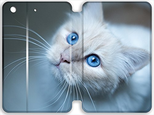 DKLZY burmese cat muzzle blue iPad Pro (9.7inch) Leather Case, Hybrid Leather Rubber Leather Case Cover for iPad Pro (9.7inch)