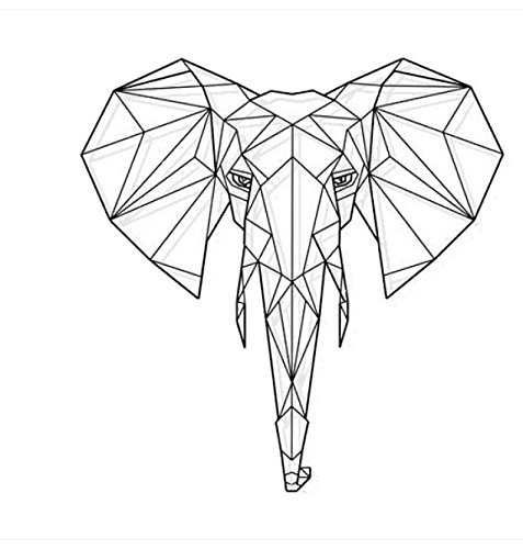 Amazon Com Bomeautify Geometry Deer Head Elephant Wall Sticker