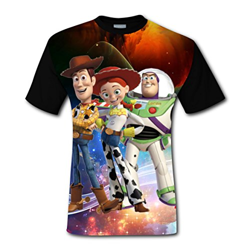 Toy Story Outfits For Adults (Toy Story Mens Black 2017 3D T-Shirt Weird Fashion Tee Shirt L)