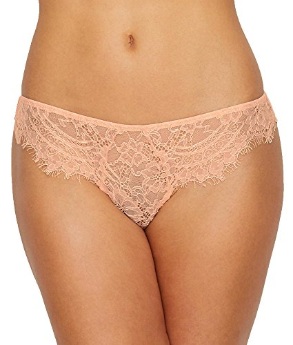 Thistle & Spire Women's Graham Eyelash Lace Bikini Briefs, Blush, Large