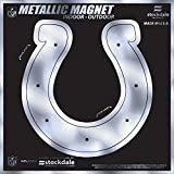 """Indianapolis Colts 6"""" MAGNET Silver Metallic Style Vinyl Auto Home Football"""