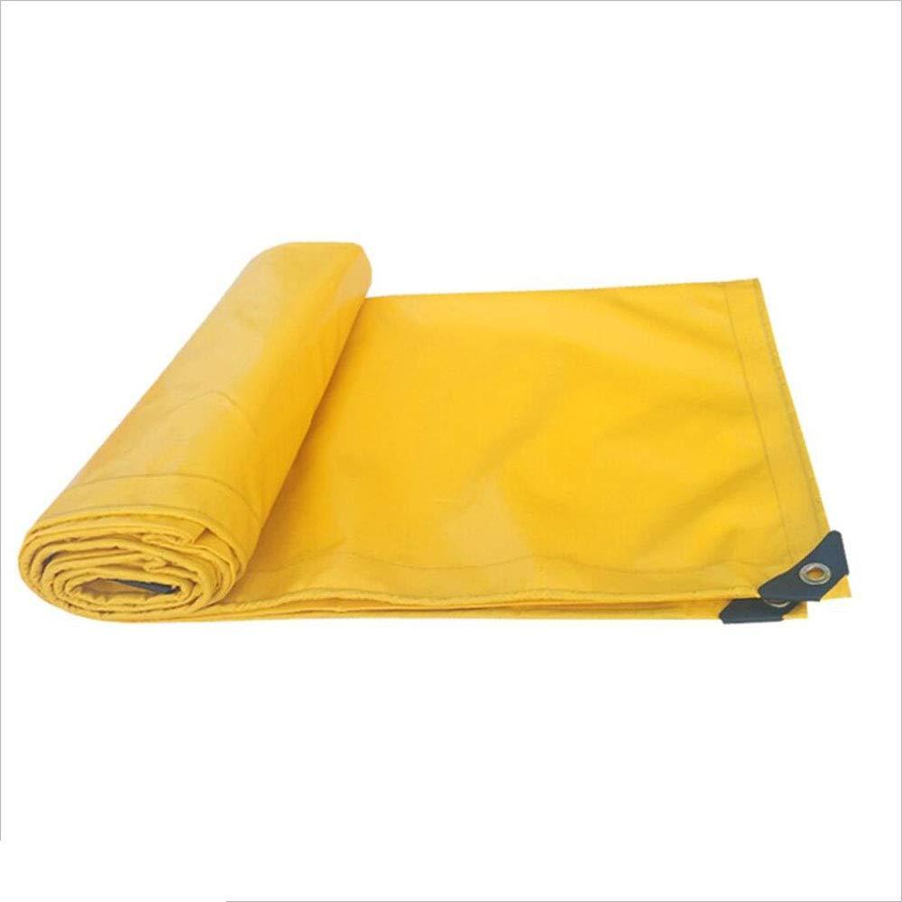 Plane Persenning Tarp Cover 500g   m² gelb Heavy Duty dick PVC wasserdicht 0,45 mm