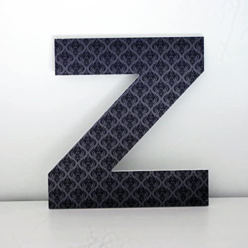 Letras Decorativas V con Imagen Frontal de Rayas Altura 30 cms