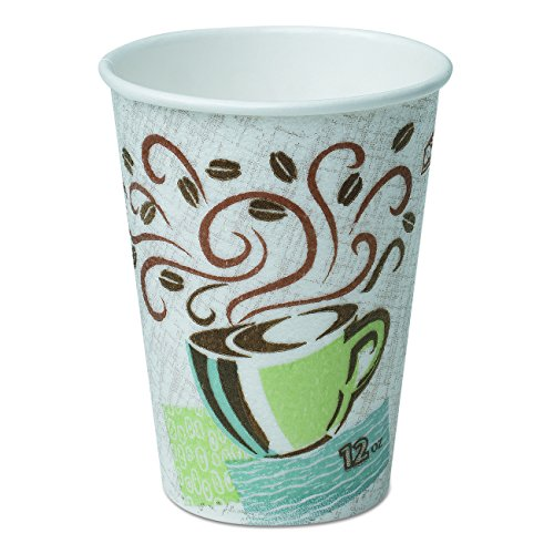 Dixie PerfecTouch 12 oz. Insulated Paper Hot Coffee Cup by GP PRO (Georgia-Pacific), Coffee Haze, 5342CDSBP, 960 Count (160 Cups Per Sleeve, 6 Sleeves Per Case) (Outlet Georgia)