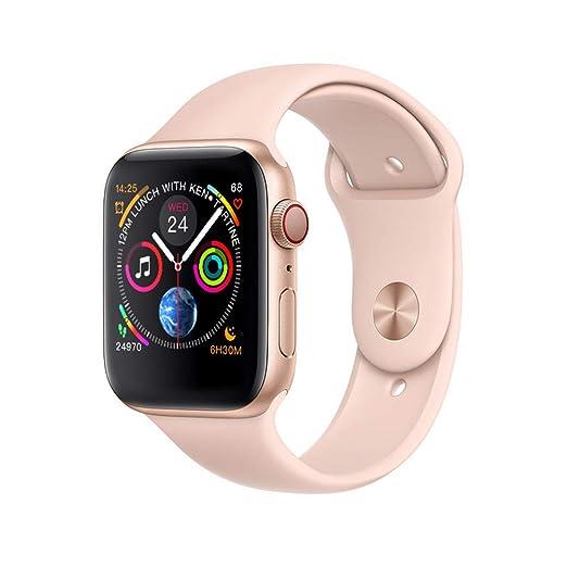 Bluetooth Reloj Inteligente W54 con Pantalla táctil batería Grande cámara para iOS iPhone teléfono Android,Gold