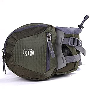 EGOGO travel sport waist pack fanny pack bum bag hiking bag with water bottle holder (Army Green)
