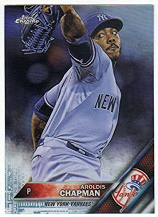 81fe54c6d Amazon.com: 2016 Chrome #141 Aroldis Chapman NM-MT Yankees ...