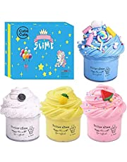 Cutiecute Slime Kit,Super Soft & Non-Sticky, Stress Relief Toy Scented Sludge Toy for Kids Education, Party Favor, Gift and Birthday (Food Butter Slime 4 Pack 100ml*4)