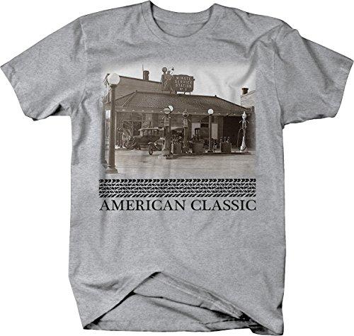 American Classic Service Station Model A T Gas Pumps Tshirt - ()