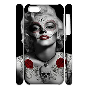 linJUN FENGCool Painting Zombie Marilyn Monroe Unique Design 3D Cover Case for iphone 5/5s,custom cover case case693271