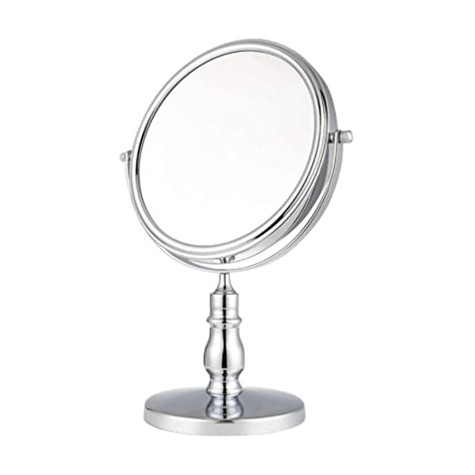 AEFCX Espejo De Vanidad Giratorio De Dos Lados De Mesa, Espejo De ...