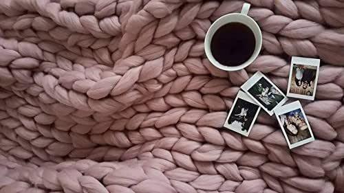 Merino wool blanket, Chunky knit blanket, Giant blanket, Chunky knit throw, Arm knitted blanket, Throw blanket