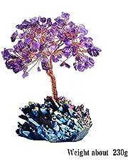 iPenty Árbol de cristal artificial de árbol de cristal colorido natural de cuarzo simulación decoración para el hogar