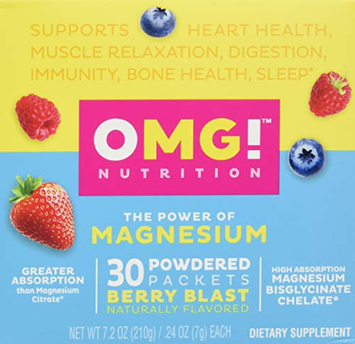Ready to Mix Magnesium Glycinate Chelate - Easy to Take Powder | High Absorption, Non-Laxative, Vegan, Non-GMO Supplement for Sleep, Stress, Heart, Muscle Relaxation and Immunity | 30 Packets