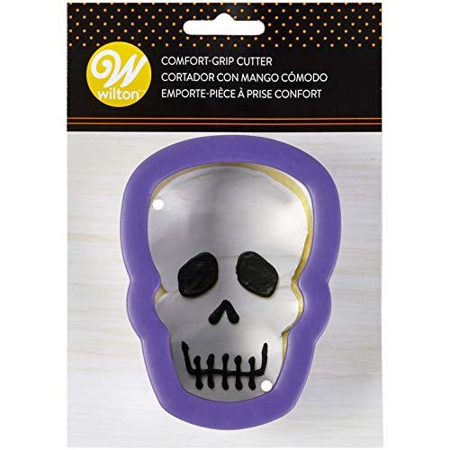 (Wilton Comfort Grip Purple Skull Metal Cookie Cutter)