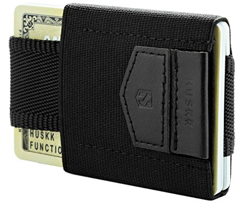 HUSKK Minimalist Slim Wallet - 10 Card Holders - Cash & Keys (Cash Cards)