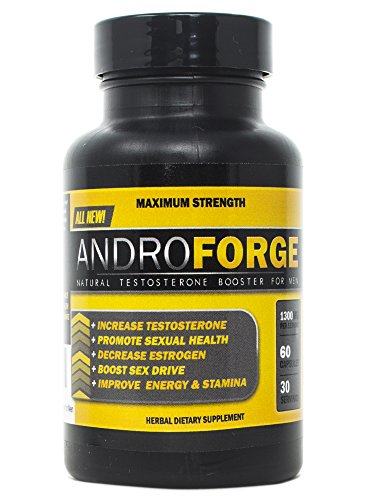 VH Nutrition AndroForge | Natural Testosterone Booster for Men – 30 Day Supply – 60 Capsules