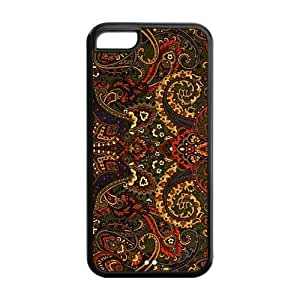 diy zhengTPU Case Cover for iphone 5c Strong Protect Case Cute Floral Paisley Pattern Case Perfect as Christmas gift(5)