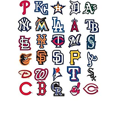 MLB 4 Los Angeles Angels Team Logo Stickers Set Individual Official Major League Baseball Helmet Emblems of Anaheim LA California: Toys & Games