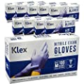 Klex Nitrile Exam Gloves Medical Grade Powder Free Latex Rubber Free Disposable Food Safe Lavender M Medium