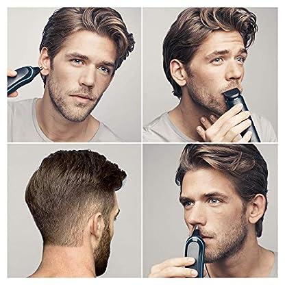 Braun 9-in-1 Multi-Grooming-Kit MGK3085, Barttrimmer und Haarschneider, Körperhaartrimmer, Ohren- und Nasenhaartrimmer, Präzisionstrimmer, lebenslang scharfe Klingen, schwarz/blau 3