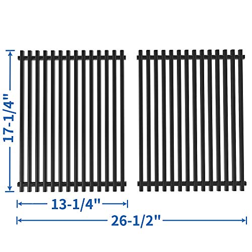 SHINESTAR 17-1/4 x 13-1/4 Grill Grates Replacement for Charbroil 463411512, 463411911, Master Forge 1010037 Grill Parts, Kenmore 122.16134110, Nexgrill 720-0719BL, Porcelain Steel Grates(SS-KW009)