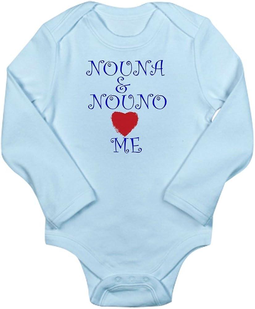 CafePress NOUNA and NOUNO Love ME Long Sleeve Baby Bodysuit