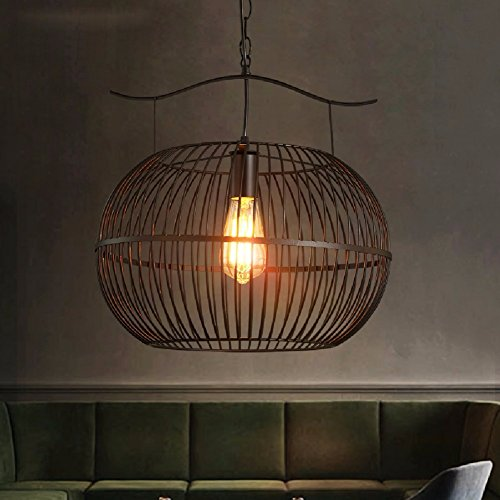 HQLCX Chandelier Loft Industrial Wind Bar Internet Cafe Chafing Dish Shop Coffee Shop Iron Art Retro Chandelier 40Cm by HQLCX-Chandeliers