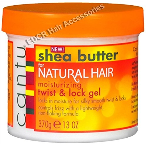 Cantu Shea Butter For Natural Hair Moisturizing Twist & Lock Gel *Control Frizz For A Silky Smooth Hold 370g USA