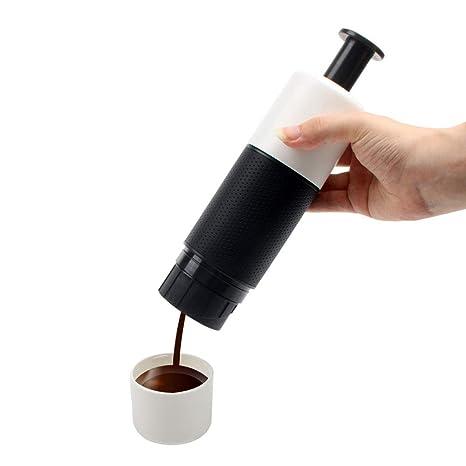 Máquina de café prensa de la mano, portátil Cafetera exprés ...