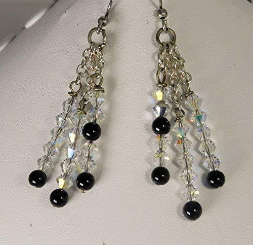 Swarovski Crystal Triple- Strand Earrings